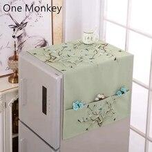 Ретро хлопок льняной органайзер для холодильника одинарная двойная дверь крышка холодильника барабан стиральная машина Пылезащитная крышка кухня предмет домашнего обихода