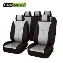 Auto-pass Autositzbezüge auge vogel mesh stoff Universal Fit die meisten Autos Covers mit Reifen Track Detail Styling Autositz schutz