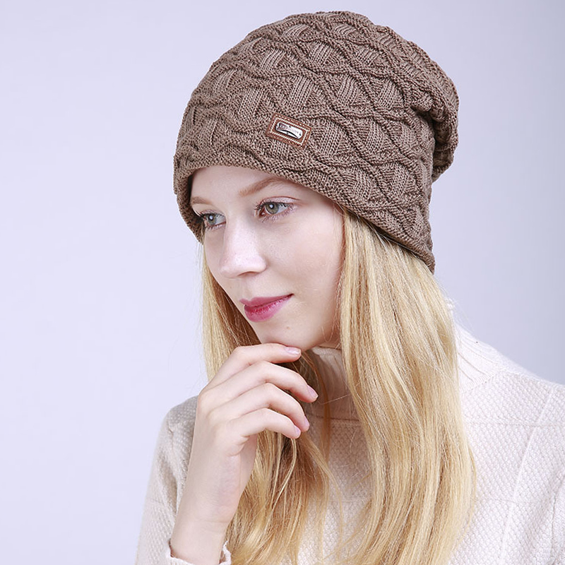 Winter Hats for Woman Hip Hop Knitted Hat Women's Warm Slouchy Cap Crochet Ski   Beanie   Hat Female Soft Baggy   Skullies     Beanies