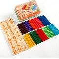 Montessori de Juguetes Educativos Para Niños Juguetes de inteligencia juego de madera juguetes de Enseñar A los principiantes de aprendizaje de matemáticas matemáticas Dominó Juguete W205