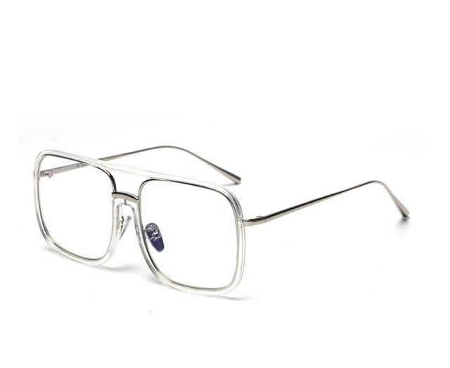 2f9ce6a041e8 Square Sunglasses Men big frame Flat Top Hot Women Luxury Brand Design  Couple Lady eye Glasses