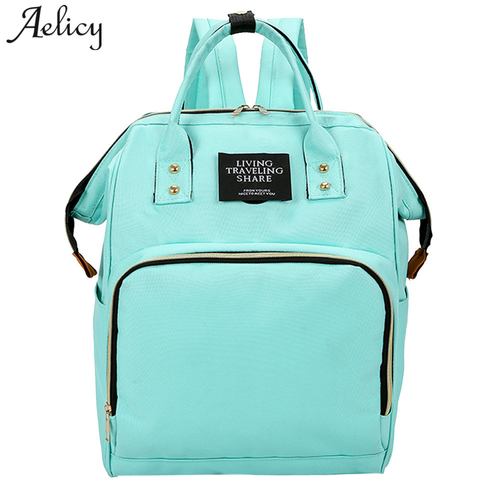 Aelicy Mommy Diaper Bag Large Capacity Baby Nappy Bags Desiger Nursing Bag Fashion Travel Backpack Baby Care Bag For Mom цена 2017