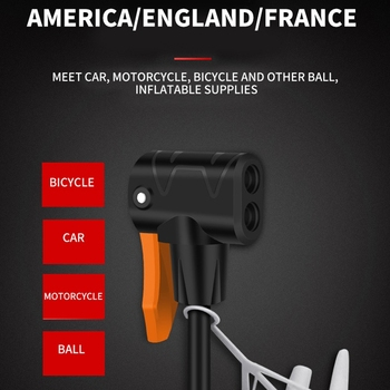 Portable High-Voltage Aluminum Alloy Mini Electric Car Motorcycle Car Home Pedal Digital Display Air Pump Bicycle Pump With Di