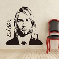 Kurt Cobain Música Rock Vinilo Etiqueta Walll Pegatina Dormitorio Estudio Bar Cantante Pop Adolescente Habitación Interior de la Casa Decoración Americana Mural