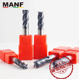 Image 1 - MANF freze kesiciler HRC50 4mm 6mm 8mm 10mm katı karbür EndMills Tungsten karbür ucu frezeleri Mill kesici freze
