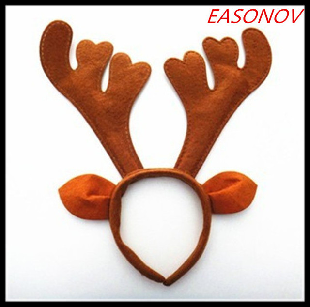 89d5315f3ac07 2017 New Christmas decoration party supplies Reindeer Antler Santa Hat  Christmas hat hoop for navidad wholesale+ Free shipping