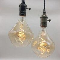 2PCS Lot New Design G125 Vintage Style Soft Led Filament Bulb Retro Antique Dimmable Spiral Flexible