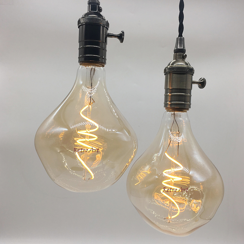 2PCS/lot new design G125 vintage style soft led filament bulb retro antique dimmable spiral flexible led filament light bulb 4W автоинструменты new design autocom cdp 2014 2 3in1 led ds150