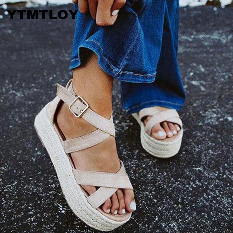 Sandals Women Wedges Shoes Pumps High Heels Summer 2019 Flip Flop Chaussures Femme Platform Sandalia Feminina  Platform