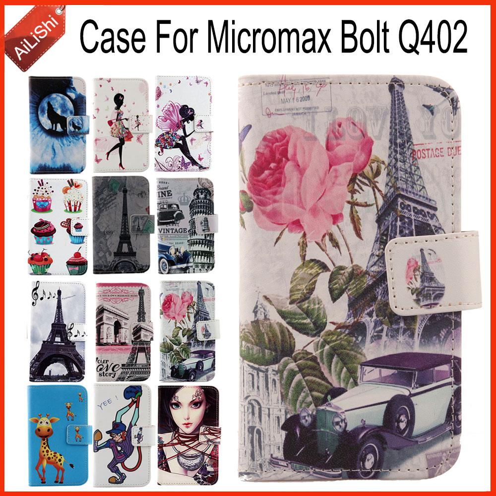 AiLiShi Factory Direct! For <font><b>Micromax</b></font> Bolt <font><b>Q402</b></font> Case Stand Card Slot Leather Case Cover Bag 100% Special Phone Accessories image