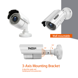 Image 3 - TMEZON 8CH CCTV System 4PCS 720P Outdoor Weatherproof Security Camera 8CH 1080P DVR Day/Night Kit Video Surveillance System