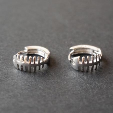 Flyleaf 925 Sterling Silver Fish Bones Stud Earrings For Women Personalized Girl Hypoallergenic Sterling-silver-jewelry