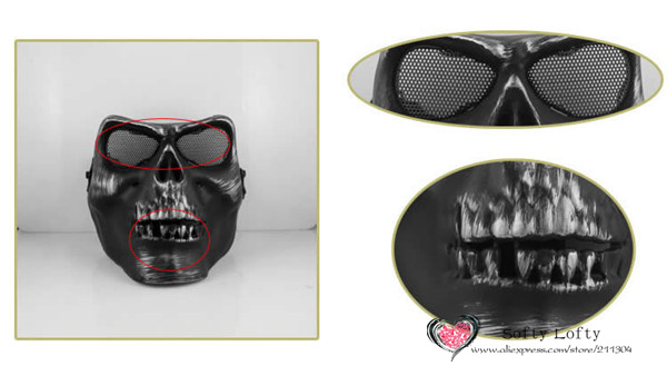 CS Soldiers Mask Protection 3 colors - Silver Black 1