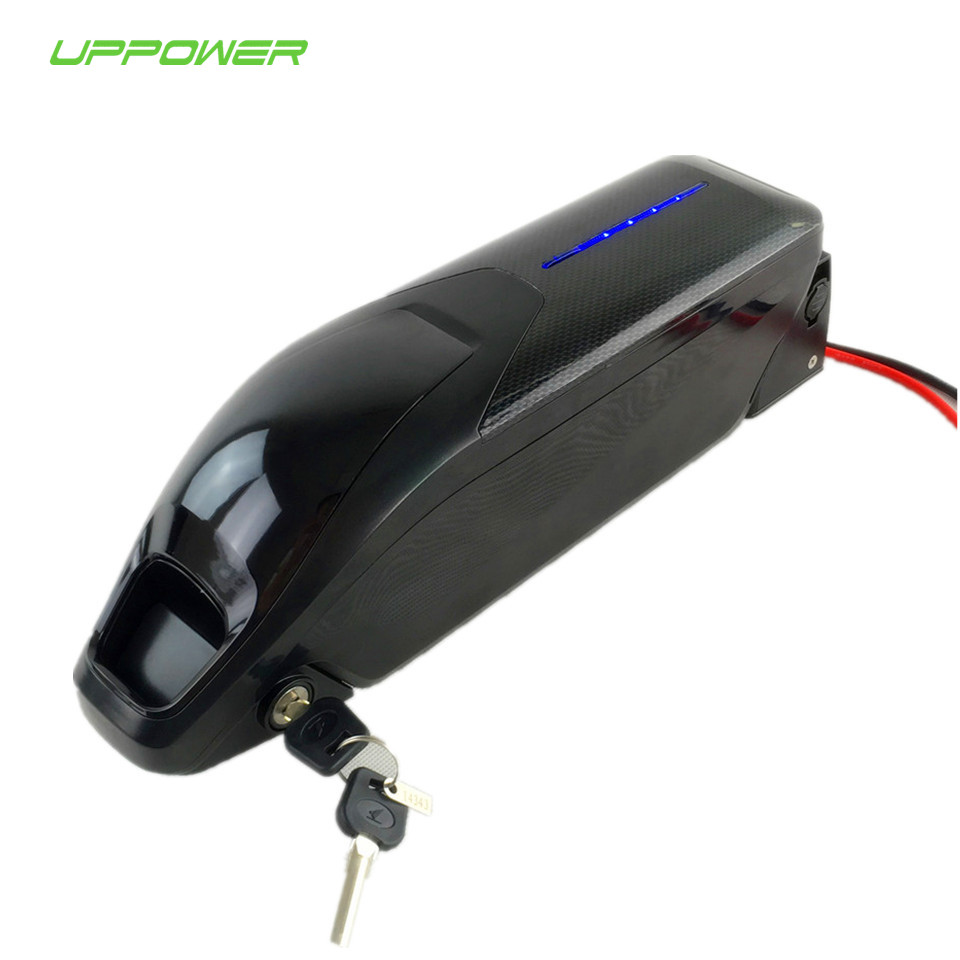 US EU AU Free Tax 13S4P Sanyo 48V 14Ah dolphin Ebike Battery with 2A charger for 48V 1000W 8fun hub motor Bafang mid motor 2017 top fashion ebike kit bafang 36v250w front geared direct motor for ebike brushless hub motor 8fun electric wheel