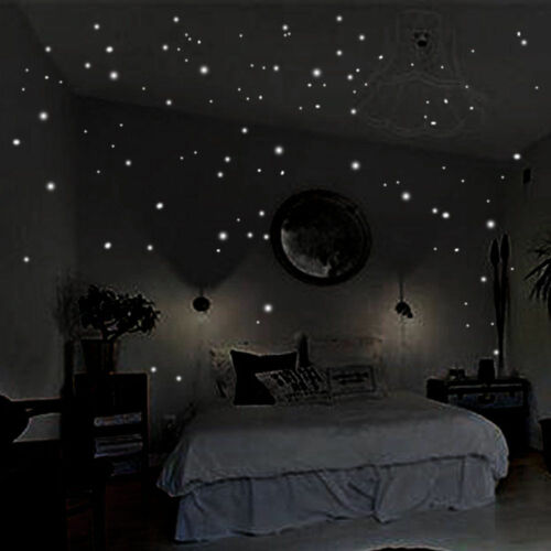407Pcs Wall Stickers Decor Glow In The Dark Star Sticker Decal For Kid Room