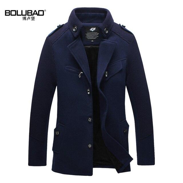 2015 New Arrival Winter Wool Blends Brand Men Suits Dress Jackets Men Casual Long Thicken Wool Coat Warm Men's Clothing