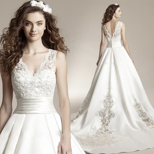 Image 1 - Fansmile New Vestido De Noiva White Lace Wedding Dress 2020 Plus Size Customized Wedding Gowns Bride Dress FSM 456T