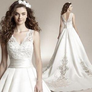 Image 1 - Fansmile 新 Vestido デ Noiva ウェディングドレス 2020 プラスサイズカスタマイズされたウェディングドレスの花嫁ドレス FSM 456T