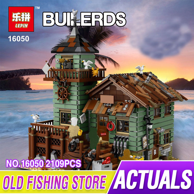 Lepin 16050 2109Pcs MOC Series The Old Finishing Store Set Children Educational Building LEPIN Blocks Bricks Toys Model 21310 lepin 16050 the old finishing store set moc series 21310 building blocks bricks educational children diy toys christmas gift