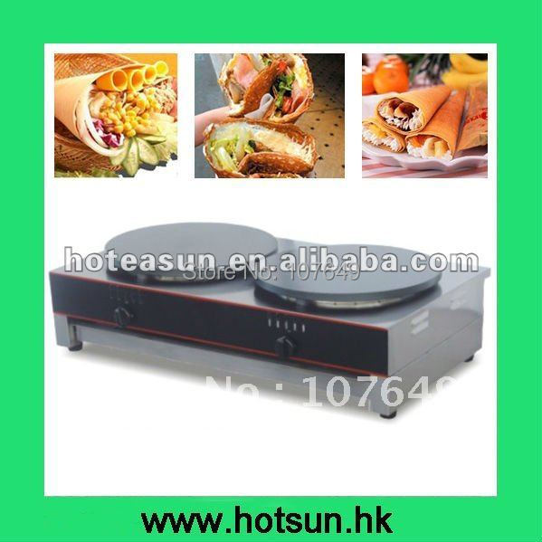 Hot Sale Two Heads Gas Crepes Machine