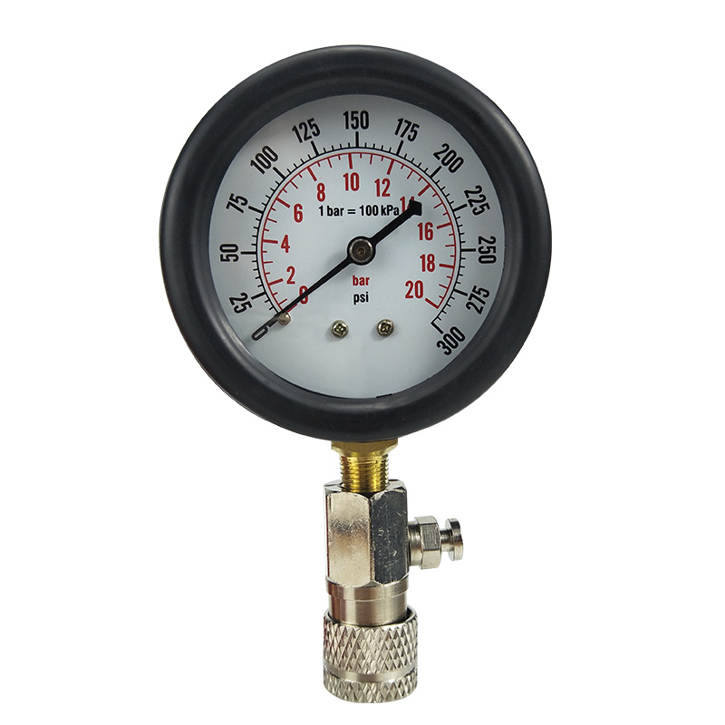 9PCS Petrol Gas Engine Cylinder Compressor Gauge Meter Test Motor Auto Pressure Compression Tester Leakage car repair tool in Pressure Vacuum Testers from Automobiles Motorcycles