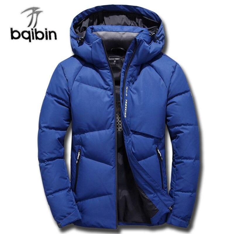 Jacket Men 2018 Thick Winter Fashion Coat Hood Detached Warm Parka High Quality Windproof Plus Szie 3XL -30 degrees