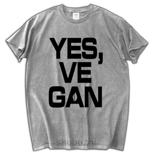 New Men T Shirt Brand YESVEGAN Funny Cotton Male Short Sleeve Cool Birthday Gifts Tshirt Veganism Clothes Summer