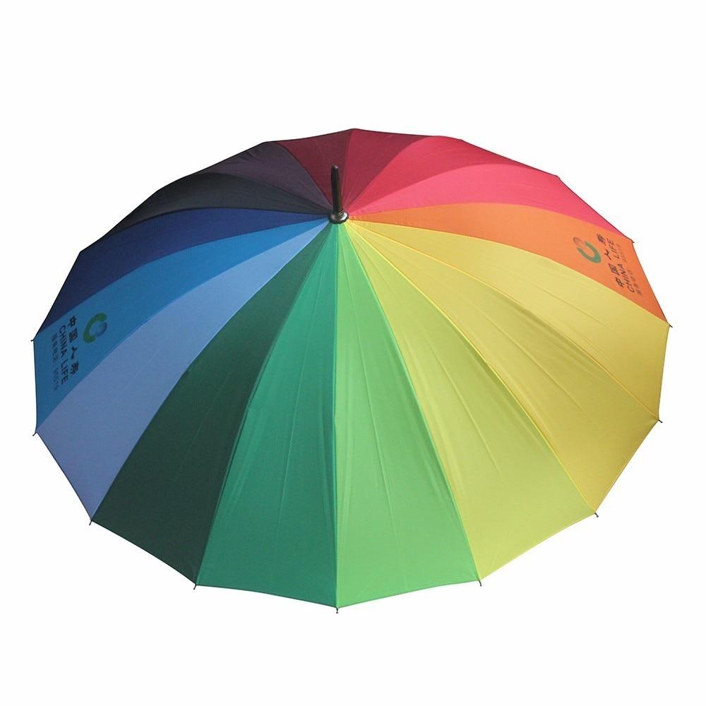 Aliexpress.com : Buy 16 bone rainbow umbrella long handle umbrella ...