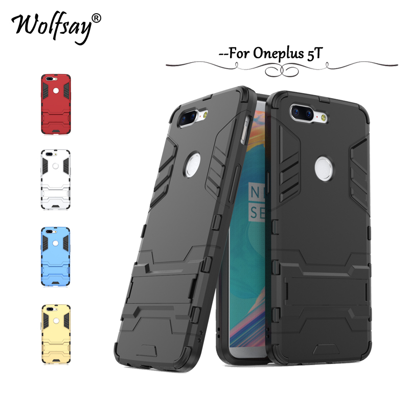 Oneplus 5T Cover Oneplus 5 T Case Slim Robot Armor Rubber Coque For Phone Case Oneplus 5t One plus 5t A5010 Case Wolfsay Fundas