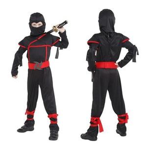 Image 2 - Bambini Ninja Costumi Del Partito di Halloween Delle Ragazze Dei Ragazzi Guerriero Stealth Bambini Cosplay Assassin Costume