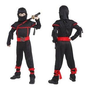 Image 2 - Kids Ninja Costumes Halloween Party Boys Girls Warrior Stealth Children Cosplay Assassin Costume