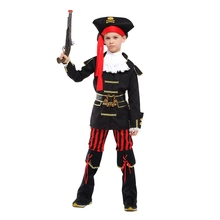 Kids Child Royal Prince Pirate Costumes for Boys Halloween Purim Party Carnival Cosplay Jacket Coat