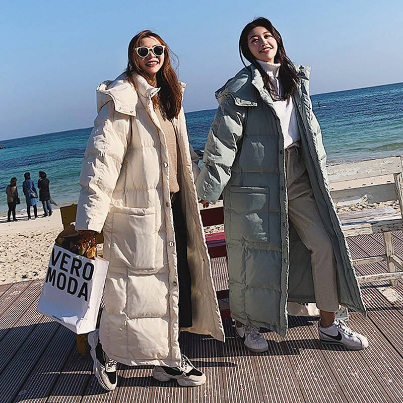 Winter Jacket Women Hooded   Parka   Thicken Long Down Cotton Jackets Coat Women Snow Wear Overcoat Warm Cotton Jacket Female C5691
