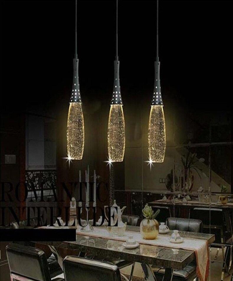 Restaurant Modern Led Crystal Lighting Big Pendant Lamps Dining Room Lights For Wedding
