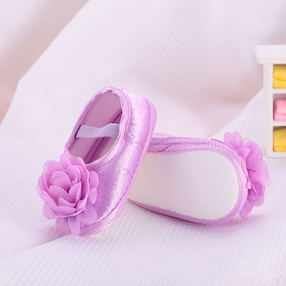 Toddler Baby Girls Princess Crib Sandals Anti Slip Prewalker Slip On Shoes first walkers bow knot baby girl lace shoes toddler prewalker anti slip shoe simple baby shoes