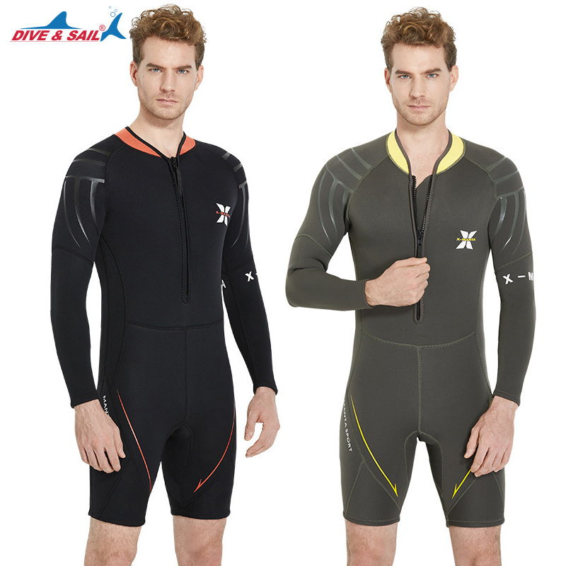 Men 3MM Neoprene Scuba Diving Wetsuit Winter One-piece Long Sleeve Keep Warm Snorkeling Surfing Swimming Diving Suit For Male