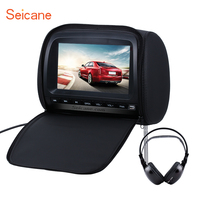 Seicane 9 800*480 Remote Control car Headrest DVD Player SD/MS/MMC Card Reader with FM Games wireless infrared earphone