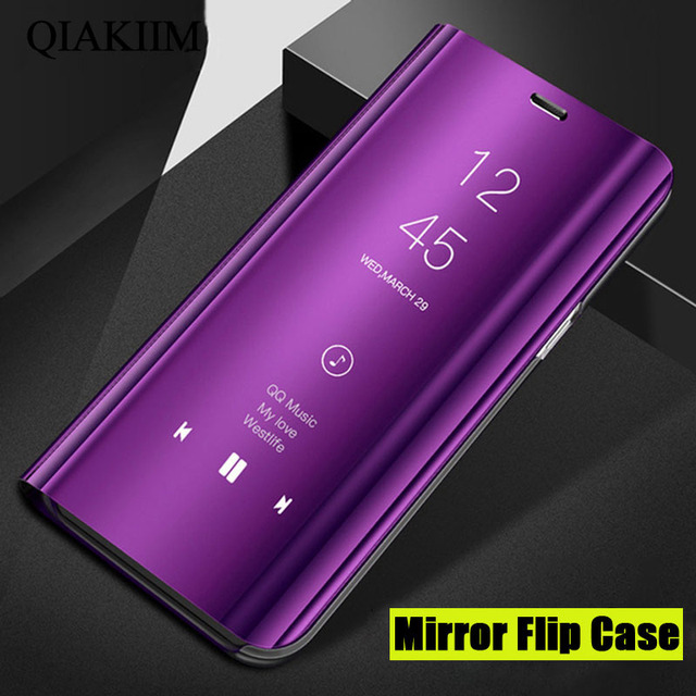 newest collection 44ed9 5fe0e US $2.39 25% OFF|Smart Mirror View Case for Huawei Mate 20 Lite Honor 8X  Note 10 V10 9i Plus Play Leather Flip Cover for Huawei P10 Lite P smart-in  ...