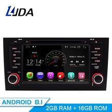 LJDA 2 Din Android 8,1 dvd-плеер автомобиля для AUDI A6 S6 RS6 gps навигационная мультимедийная аудиосистема с WiFi Радио головного устройства 4G + 32G 8 core