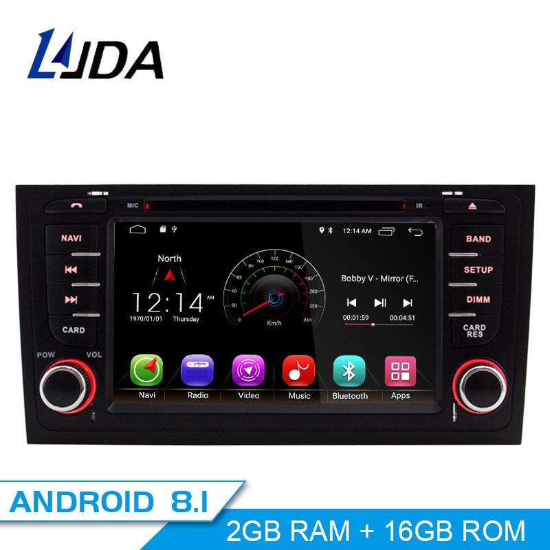 LJDA 2 Din Android 8.1 lecteur DVD de Voiture Pour AUDI A6 S6 RS6 GPS Navigation Multimédia WIFI Audio Stéréo Radio headunit 4G + 32G 8 core