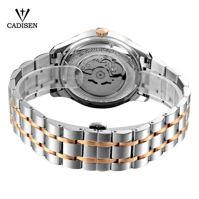 2018 New CADISEN Men Watch Automatic Stainless steel Fashion Business Top Brand Luxury Waterproof Wristwatch Mechanical Watches