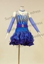 2013 new Latin dance dress,ballroom dress Rumba Jive Chacha Ballroom Latin Dance Dress Girls Women