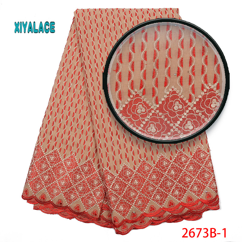 Swiss Voile Lace Fabric 2019 High Quality Lace Best Selling African Dresses For Wedding Lace Cotton Lace Party Dress YA2673B-1