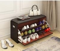 Size L Free of installation Shoe Racks Hallway Shoes changing Bench Flip Up Seat Shoe Hanger Clamshell Tip Shoe Ark Footstool