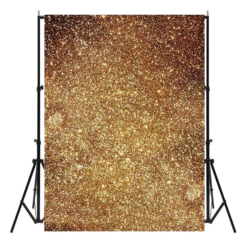 3x5ft Golden Glitters Photography Backgrounds Vinyl Studio Baby Photo Backdrops New Arrival vinyl photo background for baby studio props wooden floor christmas photography backdrops 5x7ft or 3x5ft jiesdx005