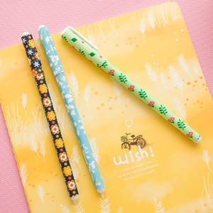 Image 5 - 36 teile/los Floral gel pen set Starry sterne blütenfarbe kugelschreiber Kawaii Schreibwaren Büro schulbedarf F244