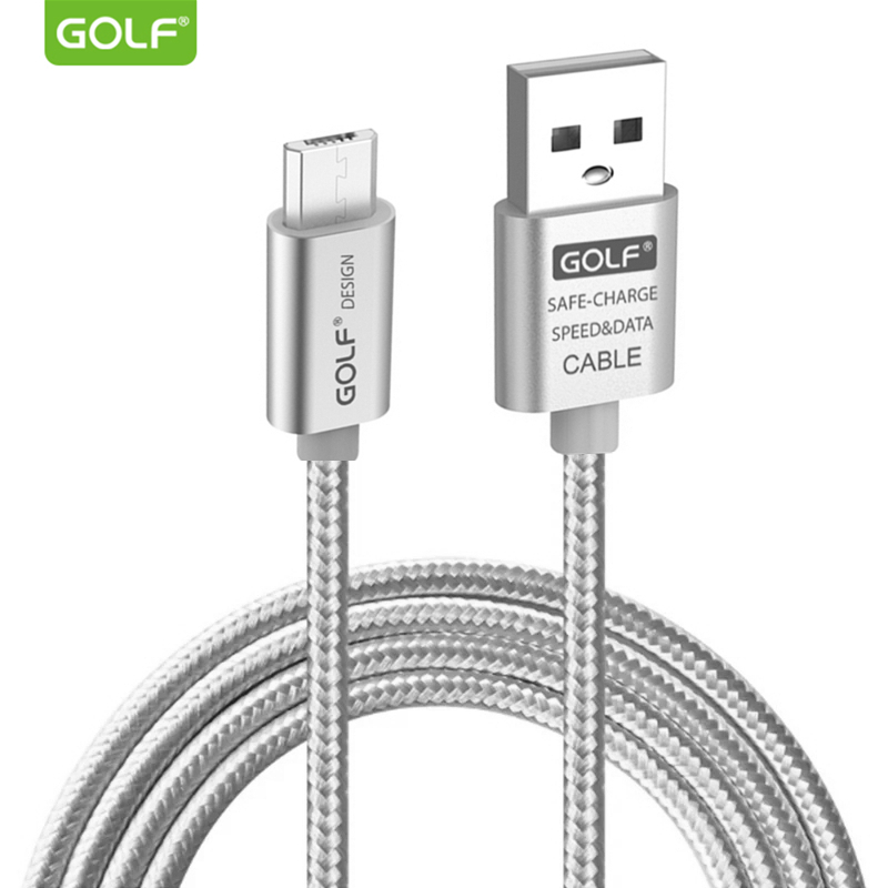 GOLF Metal Braided USB Data Sync Charging Cable for Samsung S6 S7 Edge Galaxy Note 4 Redmi 5A LG G3 Android Phone Charger Cables