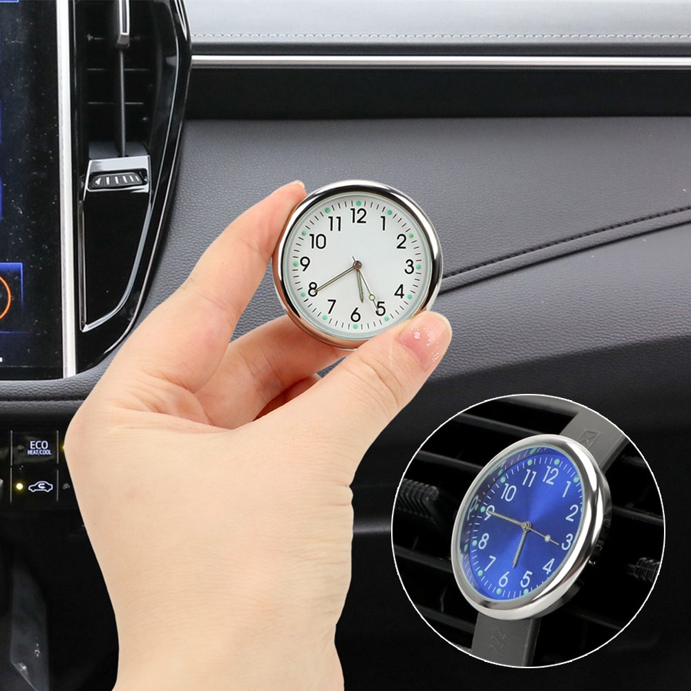 FORAUTO Car Clock Analog Watch Luminous Auto Air Outlet Decoration Car Ornaments Car-styling Auto Accessories Quartz Clocks
