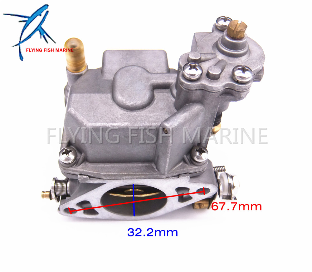 Boat Motor 66M-14301-12-00 Carburetor Assy for Yamaha 4-stroke 15hp F15 Electric Start Outboard Engine 66m 14301 11 66m 14301 00 carburetor assy for yamaha 4 stroke 15hp f15 outboard motors