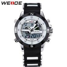 ウェイド 黒クォーツスポーツウォッチデジタル男性は防水自動自己風の高級電子腕時計時計 analong